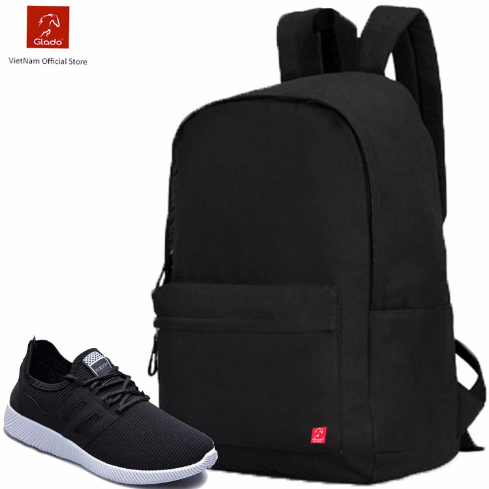 Combo Balo Cylinder Laptop BLL002BA + Giày Sneaker GS068BA (Đen) – CB021