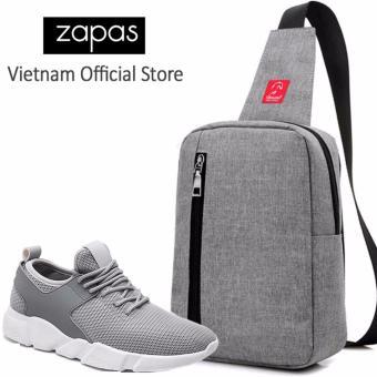 Combo Túi Messenger Thời Trang Glado DCG026GR + Giày Sneaker Nam Zapas GS080 (Xám)- CB120