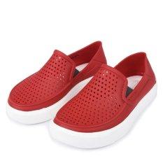 [Premier] Crocs – Giày Lười Bé Trai Citilane Roka K Ppr(Đỏ) – Authorized By Brand