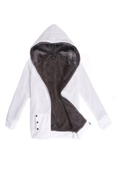 Cyber Casual Ladies' Thicken Warmer Hoodies Coat Outerwear Jacket(White) - Intl