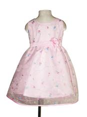 Đầm voan thêu hoa bé gái 1-8 tuổi Tri Lan DBG048 (Hồng)