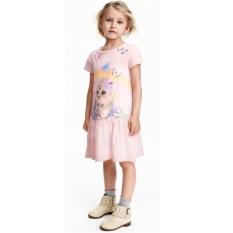 Đầm bé gái tay ngắn P1093 (Hồng)