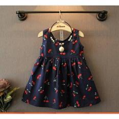 Đầm cherry cho bé gái