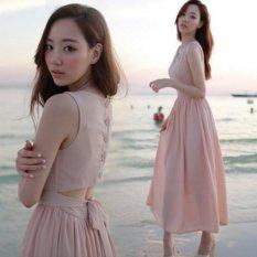 Giá Niêm Yết Đầm maxi voan cách điệu Misa Fashion MS100 / Hồng