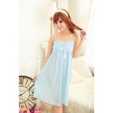 Đầm ngủ phi phối băng ren ngực Chodeal24h (xanh)