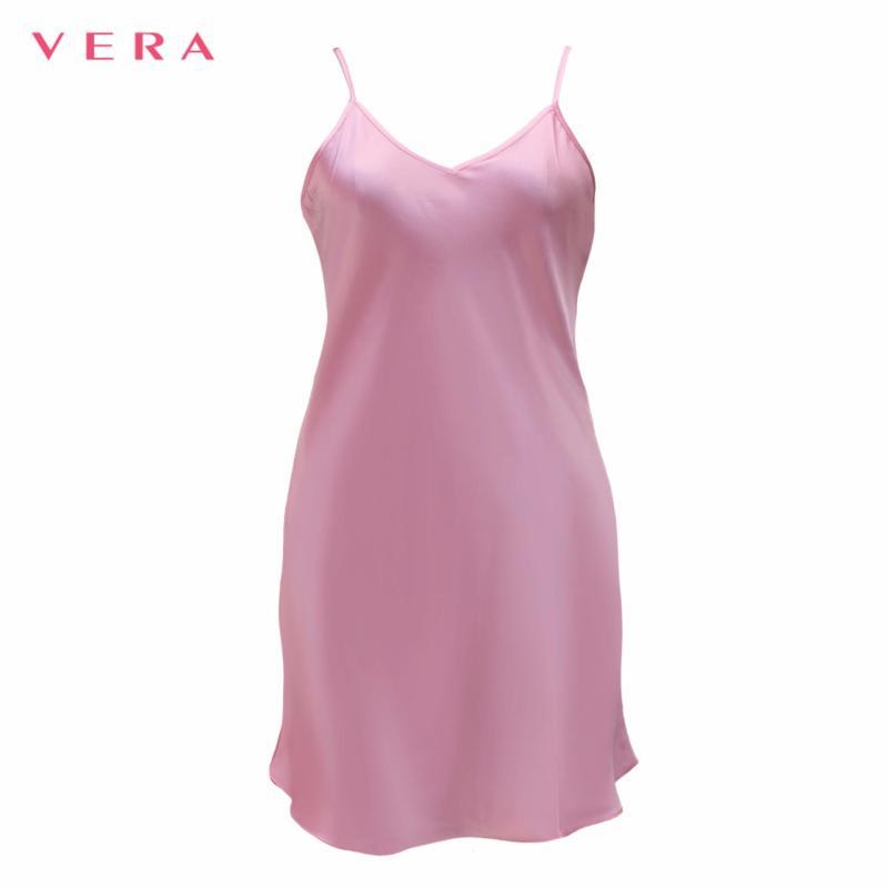 Nơi bán Đầm ngủ trơn VERA cao cấp 7162 (hồng)