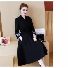 Đầm nữ công sở hàn quốc màu đen