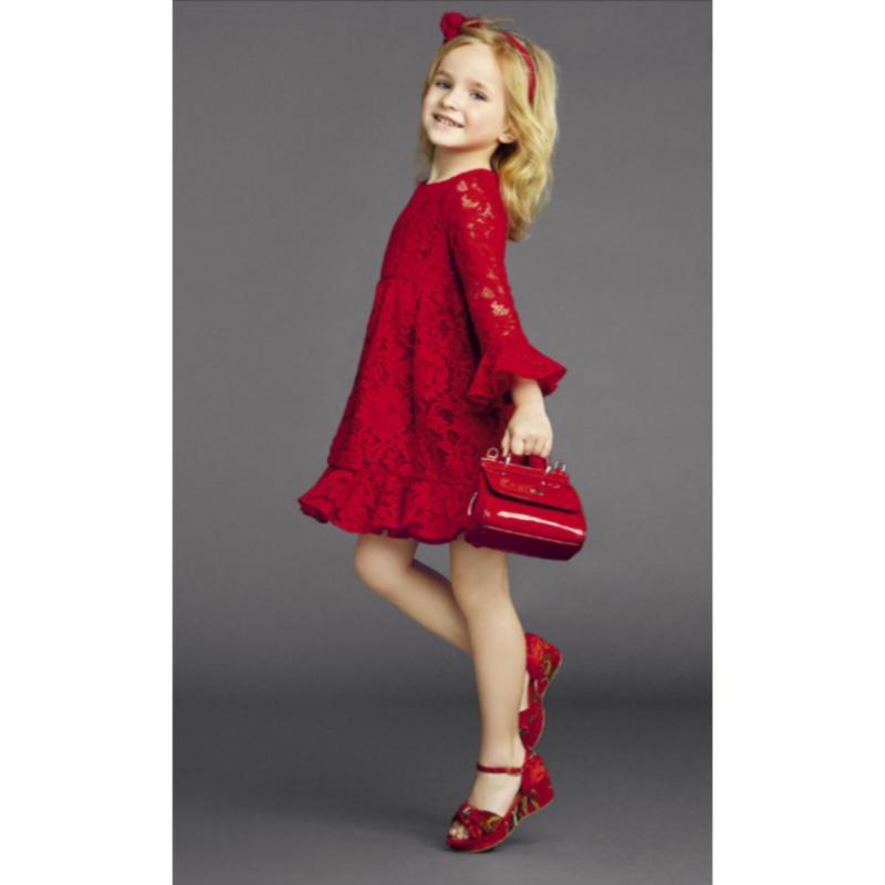 Giá bán Đầm ren bé gái 2 tuổi đến 7 tuổi TRI LAN DBG103 (Đỏ)