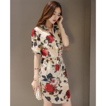 Đầm Sơ Mi Hoa Hồng DN027 - 4