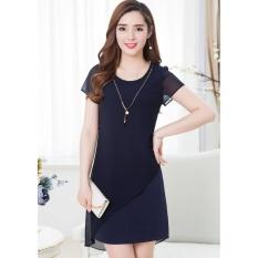 Cửa hàng bán Đầm suông phối voan Misa Fashion MS257 / Xanh đen