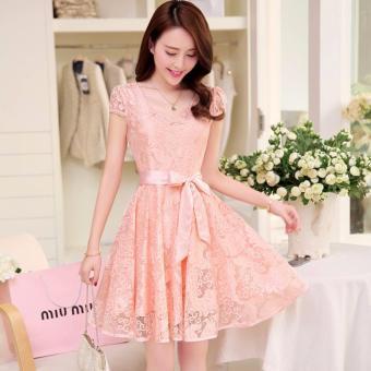 Đầm Váy xòe dễ thương - 155 (Hồng)
