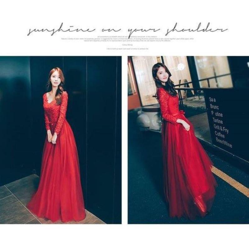 Nơi bán Đầm Xòe Cô Dâu Tay Dài Hana Fashion
