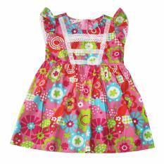 Đầm xòe cotton cho bé gái 2-9 tuổi DBG069 (Hồng)
