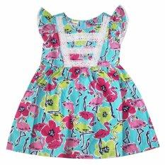 Đầm xòe cotton cho bé gái 2-9 tuổi DBG070