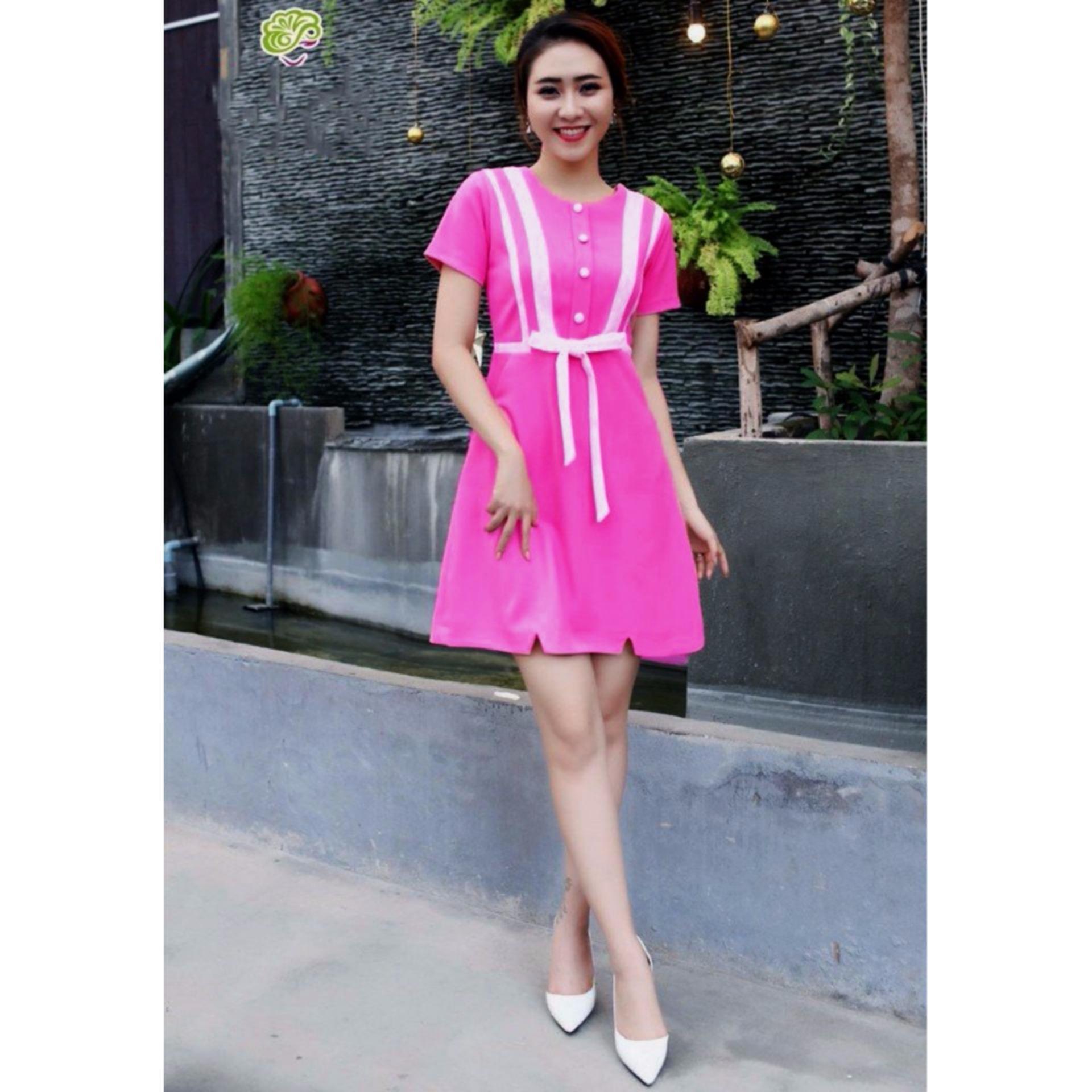 Đầm kim tuyến thời trang nv (hồng)