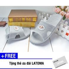Dép nhựa chống trơn đi trong nhà thời trang Latoma AS200 (Xám) + Tặng kèm thẻ ưu đãi Latoma