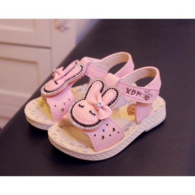 Dép sandal siêu nhẹ thỏ cute bé 1-3 tuổi