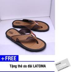 Dép xỏ ngón nam Duwa thời trang cao cấp Latoma TA0721 (Nâu)+ Tặng kèm thẻ ưu đãi Latoma