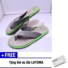 Dép xỏ ngón nam DV thời trang cao cấp Latoma TA0541 (Xám phối xanh lá)+Tặng kèm thẻ ưu đãi Latoma