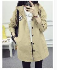 DM giải trí cho nam nữ dài áo khoác gió-intl