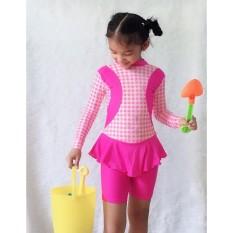 Đồ bơi bé gái tay dài – quần lửng 17-20kg