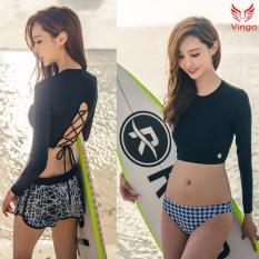 Bikini 3 mảnh áo dài tay quần chip sexy Vingo