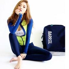 Đồ bơi bikini tay dài quần dài 3 mảnh màu xanh dạ – BG1601