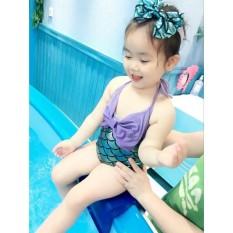 Đồ bơi cho bé gái, hàng cao cấp hình vây cá, hình chụp thật