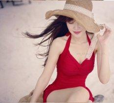 Đồ Bơi Tôn Dáng Dịu Dàng Nữ Tính (Đỏ)
