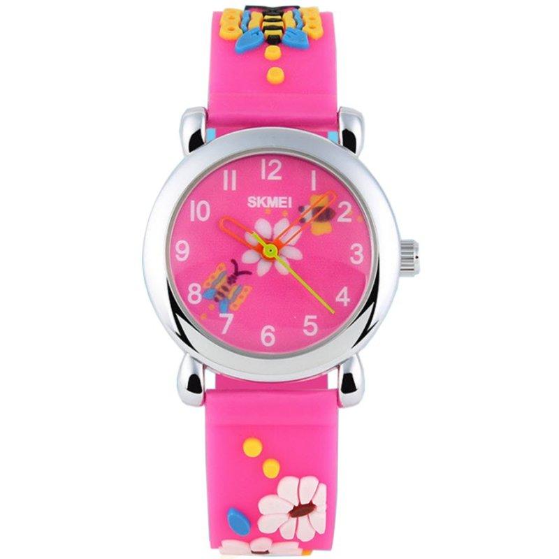 Đồng hồ bé gái dây nhựa dẻo SKMEI 1047 (Hồng) bán chạy