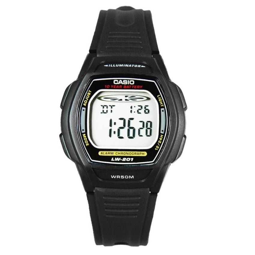 Đồng hồ dây nhựa Casio LW-201-1AVDF (Đen)