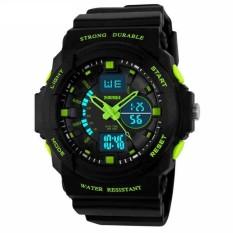 Đồng hồ nam dây cao su SKMEI AD0955 (Đen viền xanh lá)