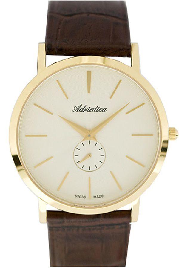 Đồng hồ nam dây da Adriatica A1113.1211Q (Nâu)