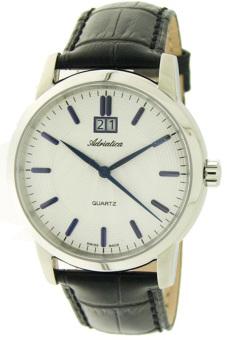 Đồng hồ nam dây da Adriatica A8161.52B3Q (Đen)
