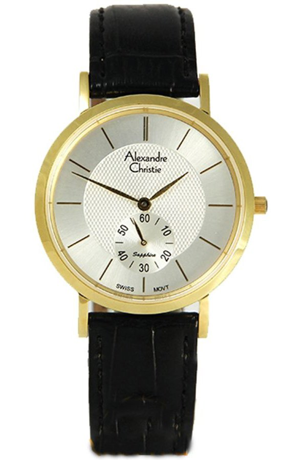 Đồng hồ nam dây da Alexandre Christie AC8C11MK-GL (Đen)