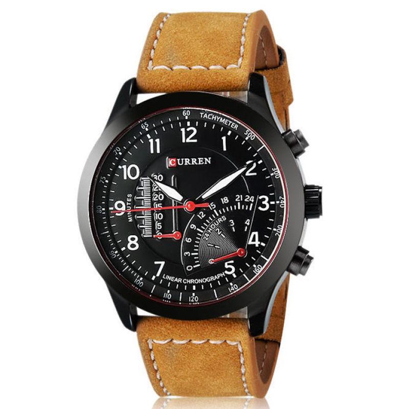 Nơi bán Đồng hồ nam dây da cao cấp Curren 3517 (Đen)