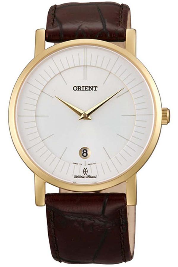 Địa Chỉ Bán Đồng hồ nam dây da Orient Quazt FGW0100CW0 (Đỏ đô )