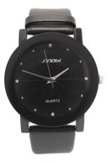 Đồng hồ nam dây da Sinobi AC096 HJ (Đen)