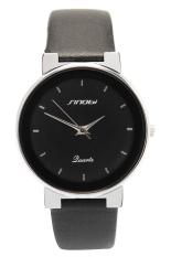 Đồng hồ nam dây da Sinobi AC9069HJ (Đen)