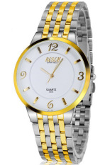 Đồng hồ nam dây inox BOSCK 3333 (Trắng phối vàng)