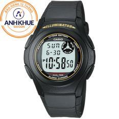 Đồng hồ nam dây nhựa Casio DM432 (Đen)