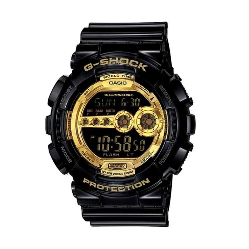 Đồng hồ nam dây nhựa Casio GD-100GB-1DR (Đen)