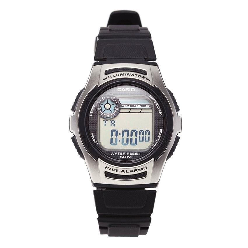 Đồng hồ nam dây nhựa Casio W-213-1AVDF (Bạc)