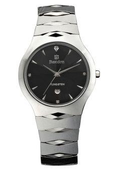 Đồng hồ nam dây thép không gỉ Bestdon BD8907G (Bạc mặt đen)