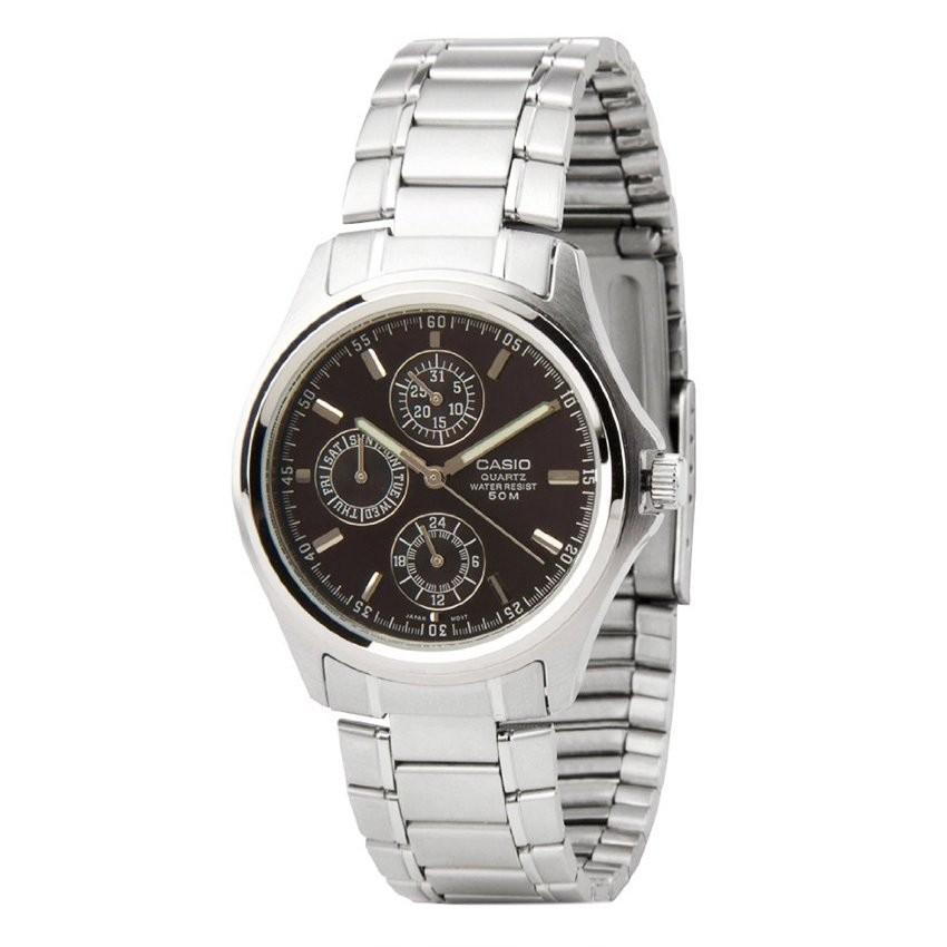 Đồng hồ nam dây thép không gỉ CasioMTP-1246D-1AVDF (Bạc)