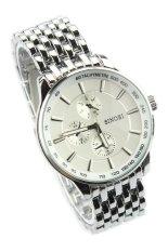 Đồng hồ nam dây thép không gỉ Sinobi 9268 (Trắng)