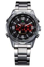 Đồng hồ nam dây thép không gỉ WEIDE TP001 (Đen)