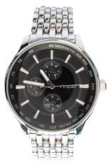Đồng hồ nam dây thép Sinobi AC7657GB (Đen)