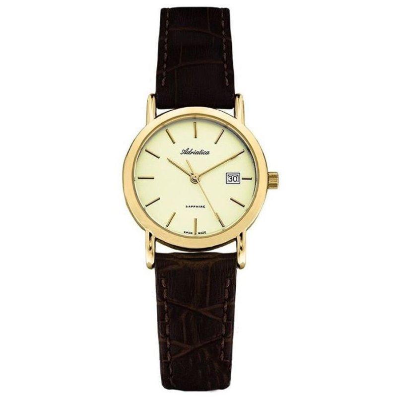 Nơi bán Đồng hồ nữ dây da Adriatica A3159.1211Q (Nâu)