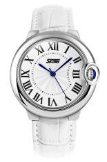 Đồng hồ nữ dây da Skmei 9088 (Trắng)